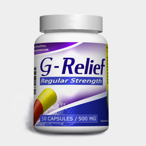 Natural Cure for ganglion cysts G-Relief Regular-strength-50-capsules INFO ganglioncysttreatment.com