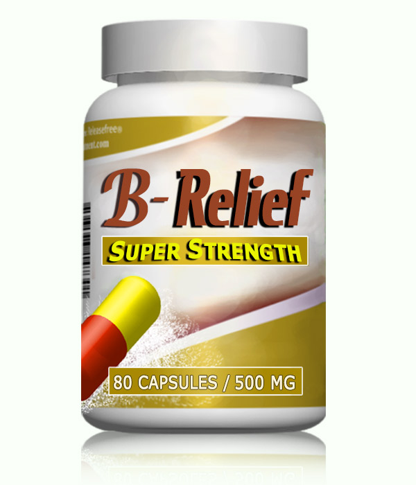 Natural Alternative to Baker's Knee Cyst SURGERY B-Relief SUPER Caps INFO:bakerstreatment.com