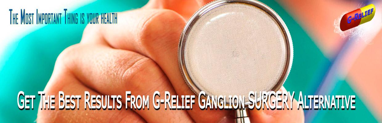 Direction G-Relief Caps Ganglion SURGERY Alternative INFO: g-relief.com